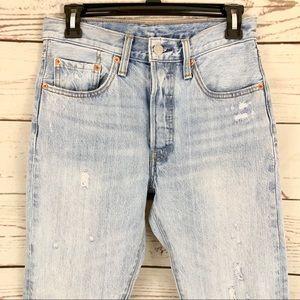 Levi's Jeans - Levi's 501 S High Rise Distressed Crop Jean